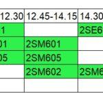 1st-sem Master's student classes' schedule.
